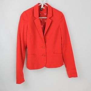 Divided by H&M Red Blazer With Pink Bow Lining